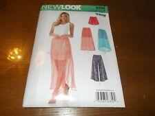 New Look Pattern 6350 Ms EZ Skirt w/Maxi or Hi-Lo Overlay & Wide Leg Pants/Short