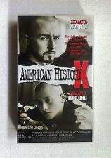 "RARE ""AMERICAN HISTORY X"" 1998 PAL VHS VIDEO MOVIE EDWARD NORTON ""LIKE NEW"""