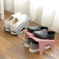 Shoe Slots Double Layer Plastic Space Saver Holder Shoes Box Organizer Storage V