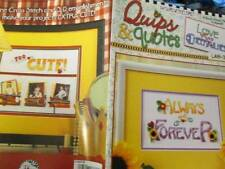 Quips & Quotes Cross Stitch Book-Mary Engelbreit-9 Projects-Samplers