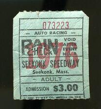 Vintage 1976 SEEKONK SPEEDWAY Ticket Stub Massachusetts Racing GEORGE MURRAY