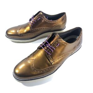Cole Haan Grand OS Original Lace Up Oxford Shoes C23392 Mens 11.5 W BRONZE Rare