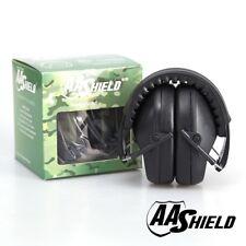 AA Shield Soundproofing Mini Ear Muff Shooting Hearing Protector 25.8DB/Black