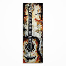 Original acoustic guitar painting on canvas, music wall art, MADE TO ORDER
