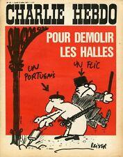 """CHARLIE HEBDO N°33 du 5/7/1971"" REISER: DEMOLIR LES HALLES UN PORTUGAIS UN FLIC"