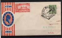 GB 1934 Air Post Exhibition PMK & Vignette to use on Bi-Centenary Cover WS22329