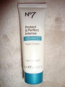 Boots No 7 Protect & Perfect Intense Advanced Night Cream 25ml 0.84 Oz Brand New