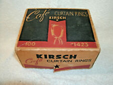 Vintage Original---- KIRSCH Cafe Curtain Rings--#1423--Box   {Empty}