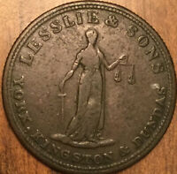 UPPER CANADA LESSLIE AND SONS HALF PENNY TOKEN COIN - Breton 718