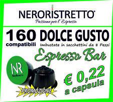 160 Capsule Cialde Caffe Compatibili NESCAFE DOLCE GUSTO miscela Espresso Bar