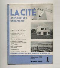 1932 L. H. de Koninck LA CITÉ Canneel House Functional Belgian Architecture Jour