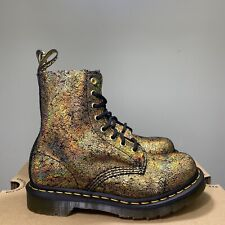 Women Size 5 Dr. Martens 1460 Pascal Boot Aw004 Gold Iridescent Crackle