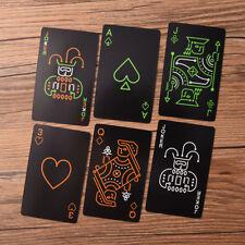 Black Fluorescen Poker Karten Nacht leuchtende Spielkarten Brettspiel RH