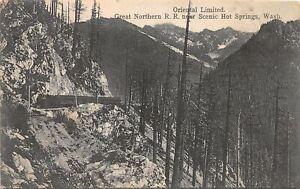 H56/ Hot Springs Washington Postcard c1910 Oriental Limited Railroad GNRR