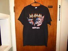 Def Leppard : Summer 2014 Tour Black T Shirt Large Size ( L )