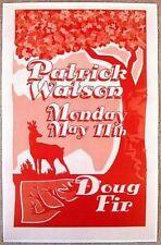 PATRICK WATSON 2009 Gig POSTER Portland Oregon Concert