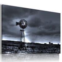 WINDMILL SUNSET MODERN DESIGN CANVAS WALL ART PICTURE LARGE WA79 X