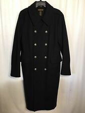 Ralph Lauren Rugby Coat Wool Blend Double Breasted Silver Crested Bttns Men Sz M
