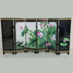 48*24*0.6cm Panel screen Chinese Style Folding Furniture Living-room Retro