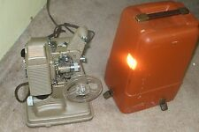 """REVERE 8MM FILM MOVIE PROJECTOR  MODEL """"85"""" WITH OWNER'S OPERATING MANUAL"""