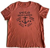 Polo Ralph Lauren & Co Custom Fit Tee Multicolor Pink / Purple Short Sleeve XL