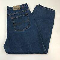Jordin Denim Jeans Mens 44X32 Blue Straight Leg 100% Cotton Medium Wash Zip Fly