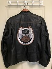 Harley Davidson 105th Anniversary Leather Motorcycle Jacket Women's 1W 97105