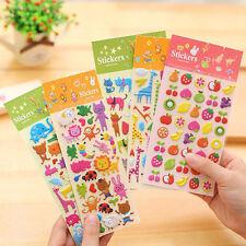 2Pcs Cute PVC Stickers for Kids Home Wall Decor Kindergarten Reward Stickers