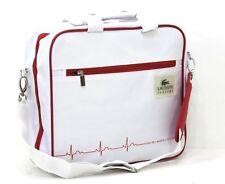 Lacoste White Laptop Carrier Bag / Messenger / Shoulder Bag