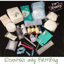 Essentials pre packed maternity birth birthing toiletries baby bag pack simple