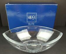 "Mikasa Elite Full Lead Crystal 13.75"" Intercept Bowl France w/ Box NOS Houseware"