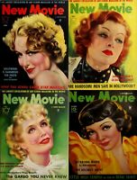 66 OLD ISSUES OF NEW MOVIE - FILMS MOVIES STARS FAN MAGAZINE (1929-1935) ON DVD