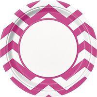 Chevron Range of platos de papel - Pack de 8-23cm {UNIQUE} (vajilla/Cumpleaños)
