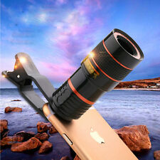 Clip-on 8x Optical Zoom HD Telescope Camera Lens For Universal Mobile Phone US
