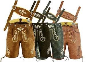 Oktoberfest Lederhosen Leather Traditional Bavarian Shorts  German wear