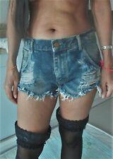 sexy summer  Denim cut Jean Distressed  frayed Shorts size 8