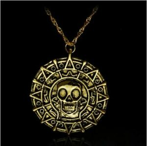 Pirates of the Caribbean Aztec Coin Pendant Necklace - Jack Sparrow - New