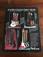 1983 VINTAGE 8.5X11 PRINT Ad WESTONE GUITARS IF EYES COULD ONLY HEAR CONCORD ++