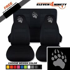 1997-2002 Jeep Wrangler TJ Black Seat Covers / BEAR CLAW design. Choose Color
