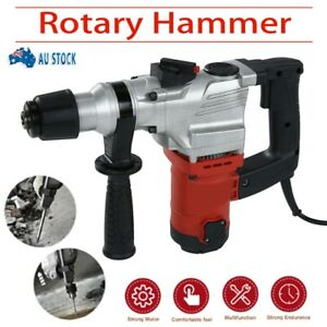 Portable  Rotary SDS Hammer Drill Demolition Jack Hammer Kit & Chisels In Case