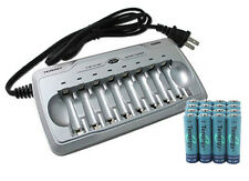 Tenergy TN145 8-Bay AA/AAA Battery Charger + 16 Tenergy AA NiMH Batteries