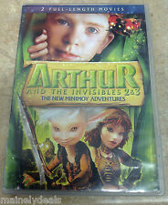 Arthur & The Invisibles 2&3 New Minimoy Adventures DVD Tested! Works!