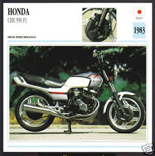 1983 Honda CBX 550 F1 (572cc) Japan Bike Motorcycle Photo Spec Info Stat Card