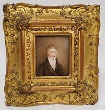 Fine Antique Miniature Portrait of a Young Gentleman