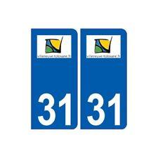 31 Villeneuve-Tolosane logo ville autocollant plaque stickers