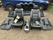 GENUINE BMW 5 SERIES 525D E60 SALOON - BLACK LEATHER INTERIOR SEATS + DOOR CARDS