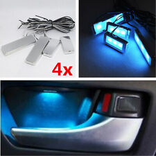 4x Universal Car Interior Ice Blue LED Ambient Door Light Atmosphere Decor Lamp