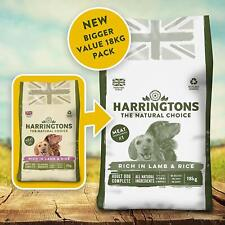 More details for harringtons dry adult dog food complete rich in lamb and rice harrington 18 kg