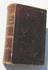 1852 Pocket Hymnal Psalms Select Hymns Small Hardcover Book Crocker & Brewster