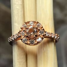 Natural Pink Morganite, Accent Stone 14k Rose Gold Over Sterling Silver Ring 8